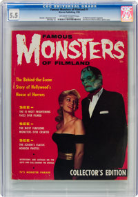 Famous Monsters of Filmland #1 (Warren, 1958) CGC FN- 5.5 Off-white to white pages