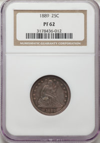 1889 25C PR62 NGC. NGC Census: (15/115). PCGS Population: (33/138). CDN: $450 Whsle. Bid for NGC/PCGS PR62. Mintage 711...