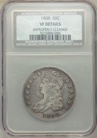 1808 50C -- Improperly Cleaned -- NCS. VF Details. Mintage 1,368,600. ...(PCGS# 6090)