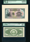 Bolivia Banco de la Nacion Boliviana 50 Bolivianos 11.5.1911 Pick UNL; 110p Face and back Proofs PMG Superb Gem Unc 67 E...