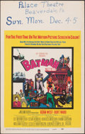 "Movie Posters:Action, Batman (20th Century Fox, 1966). Very Fine. Window Card (14"" X 22""). Action.. ..."