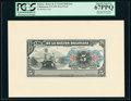 Bolivia Banco de la Nacion Boliviana 5 Bolivianos 11.5.1911 Pick 105p Face and Back Proofs PCGS Superb Gem New 67PPQ (2)...