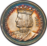 1893 25C Isabella Quarter MS63 ANACS. Mintage 24,214. From The James E. Blake Collection....(PCGS# 9220)