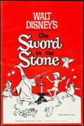 "Movie Posters:Animation, The Sword in the Stone (Buena Vista, 1963). Folded, Very Fine-. Uncut Pressbook (44 Pages, 12"" X 18""). Animation.. ..."