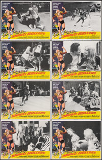 "Unholy Rollers (American International, 1972). Very Fine. Lobby Card Set of 8 (11"" X 14""). Bad Girl. ... (Tota..."