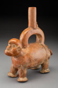 Pre-Columbian:Ceramics, A Chimu Stirrup Spout Vessel...