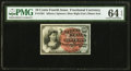 Fractional Currency:Fourth Issue, Fr. 1261 10¢ Fourth Issue PMG Choice Uncirculated 64 EPQ.. ...