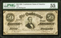 Confederate Notes:1864 Issues, T66 $50 1864 PF-12 Cr. 501 PMG About Uncirculated 55.. ...