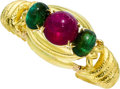 Estate Jewelry:Bracelets, Tourmaline, Gold Bracelet . ...