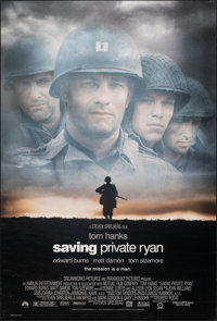 """Saving Private Ryan (Paramount, 1998). Rolled, Very Fine. One Sheet (27"""" X 40"""") DS. War"""
