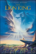 "Movie Posters:Animation, The Lion King (Buena Vista, 1994). Rolled, Very Fine-. Autographed One Sheet (27"" X 40"") DS Advance, John Alvin Artwork. Ani..."