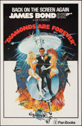 """Movie Posters:James Bond, Diamonds are Forever (United Artists, c. 1971). Folded, Very Fine-. British Newsstand Poster (13"""" X 20"""") & Newsstand Poster ... (Total: 2 Items)"""