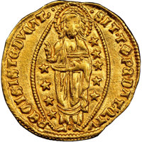 Italy: Venice. Michael Steno gold Ducat ND (1400-1413) MS63 NGC