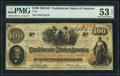 Confederate Notes:1862 Issues, T41 $100 1862 PF-16 Cr. 320 PMG About Uncirculated 53 EPQ.. ...