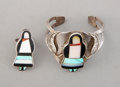 American Indian Art:Jewelry and Silverwork, Two Zuni-Style Jewelry Items ... (Total: 2 )