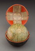 Decorative Accessories, A John Cary Pocket Globe with Shagreen Case, London, 1791. Marks to globe: Cary's Pocket Globe. Agreeable to the Latest Di...