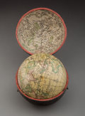Decorative Accessories, A Dr. Halley Terrestrial Pocket Globe in a Shagreen Case After Hermann Moll, 1775-1798. Marks to case: A Correct Globe...