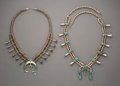 American Indian Art:Jewelry and Silverwork, Two Navajo Squash Blossom Necklaces ... (Total: 2 )