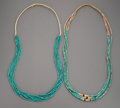 American Indian Art:Jewelry and Silverwork, Two Pueblo Necklaces... (Total: 2 )