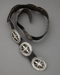 American Indian Art:Jewelry and Silverwork, A Navajo Sandcast Concho Belt... (Total: 0 )