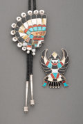 American Indian Art:Jewelry and Silverwork, Two Zuni Jewelry Items...