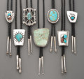 American Indian Art:Jewelry and Silverwork, Seven Southwest Bolo Ties ... (Total: 7 )