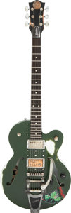 Musical Instruments:Electric Guitars, Circa 2008 Normandy Zombie Green Semi-Hollow Body Electric Guitar, Serial #0065.. ...