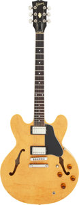 Musical Instruments:Electric Guitars, 1982 Gibson ES-335 Dot Natural Semi-Hollow Body Electric Guitar, Serial #83192510.. ...