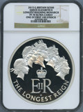 "Great Britain: Elizabeth II silver Proof ""Longest Reigning Monarch"" 500 Pounds (Kilo) 2015 PR70 Ultra Cameo NG..."