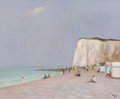 Paintings, Marcel Dyf (French, 1899-1985). Falaise et plage en Normandie, 1983. Oil on canvas. 23-1/2 x 29 inches (59.7 x 73.7 cm)...