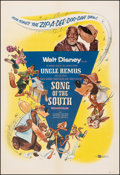 """Movie Posters:Animation, Song of the South (Buena Vista, R-1956). Very Fine- on Linen. One Sheet (27"""" X 39.75""""). Animation.. ..."""