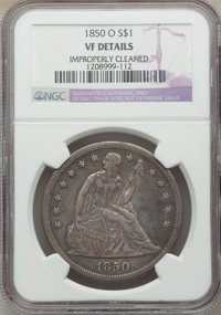 1850-O $1 -- Improperly Cleaned -- NGC Details. VF. Mintage 40,000. ...(PCGS# 6938)