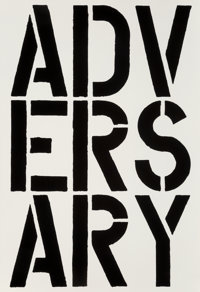 CHRISTOPHER WOOL (b. 1955) A single page extracted from Black Book, 1989 Complete book is a hardcove