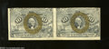 Fractional Currency:Second Issue, Fr. 1244 10c Second Issue Horizontal Pair Choice About ... (2 notes)