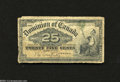 Canadian Currency: , DC-15a 25¢ 1900