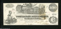 Confederate Notes:1862 Issues, T39 $100 1862. Only light handling is observed on this C-...