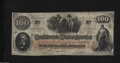 Confederate Notes:1862 Issues, T41 $100 1862. This Scroll 2 C-note entertains light ...
