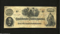 Confederate Notes:1862 Issues, T41 $100 1862. Solid edges and snappy paper decorate this ...