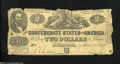 Confederate Notes:1862 Issues, T42 $2 1862. This bright $2 for the grade has its wear ...