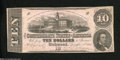 Confederate Notes:1862 Issues, T52 $10 1862. This No Series note was printed by ...