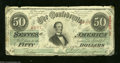 Confederate Notes:1863 Issues, T57 $50 1863. The edges reveal circulation that has ...