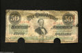 Confederate Notes:1863 Issues, T57 $50 1863. This $50 was once cut in half and recombine ...