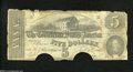 Confederate Notes:1863 Issues, T60 $5 1863. The edges display ailments as well as two ...