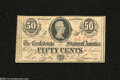 Confederate Notes:1863 Issues, T63 50 Cents 1863. Serial number embossing is found on ...