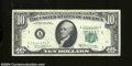 Error Notes:Shifted Third Printing, Fr. 2020-A $10 1969-B Federal Reserve Note. Very Fine. The ...