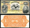Argentina Banco Nacional 1 Peso 1.1.1883 Pick S676p Front and Back Proofs Choice About Uncirculated. ... (Total: 2 notes...