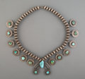 American Indian Art:Beadwork and Quillwork, A Southwest-Style Squash Blossom Necklace ...