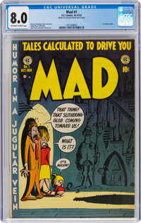 MAD #1 (EC, 1952) CGC VF 8.0 Off-white to white pages