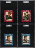 Non-Sport Cards:Lots, 1952 Star-Cal Decal Non-Sport SGC Graded Quartet (4).... (Total: 4 items)