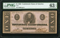 Confederate Notes:1862 Issues, T55 $1 1862 PF-7 Cr. 398 PMG Choice Uncirculated 63 EPQ.. ...